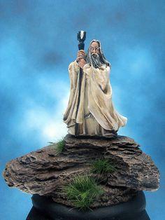 https://flic.kr/p/CFNeVN | Painted Games Workshop Miniature, Lord of the Rings Saurman.