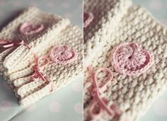 Fingerless Crochet Gloves- These would make a lovely addition to any Valentine's Day basket.