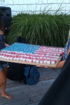 Fourth of July Jell-O shots.