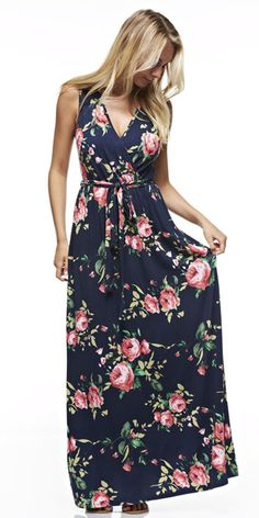 to my stylist- Floral Maxi Dress, i love the neckline and the flow of the dress.  this would be an amazing dress to dress up or down