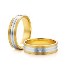 SAVICKI - Obrączki ślubne: Obrączki z dwukolorowego złota (Nr 233) - Biżuteria od 1976 r. Wedding Rings, Engagement Rings, Jewelry, Enagement Rings, Jewlery, Jewerly, Schmuck, Jewels, Jewelery