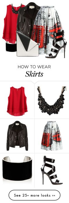 """""""SALE Chicwish - Oh London Skirt"""" by twinkle-misfit on Polyvore"""