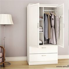 Brand New Pemberly Row Wardrobe Armoire in Pure White