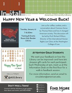 Happy New Year & Welcome Back  #62 2015