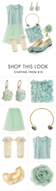 """Gold or Flowers?"" by rainylilies ❤ liked on Polyvore featuring Barneys New York, Blumarine, D&G, Ricardo Rodriguez, Monsoon, Tsumori Chisato, Ross-Simons and Zara"