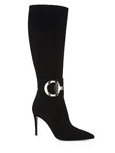 9ac01253bff Gucci - Rooney Suede Knee-High Boots