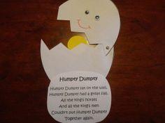 Preschool Rhyming Activities Preschoolers | How to make your Humpty Dumpty Nursery Rhyme Craft