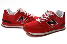 cheaper f8c09 09d79 new balance 574 fire red white black womens new balance shoes - JRT colors!