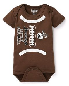 """Cute outfit - Sara Kety Infant Boys' """"Daddy's Little Football"""" Bodysuit - Sizes 0-18 Months"""