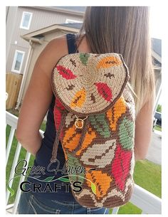Easy tapestry crochet mochila bag pattern