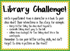 Library challenge cards - Get pupils excited about reading and properly engaged with books using this series of activities and challenges.