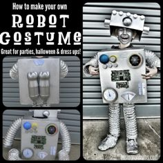 DIY Robot Costume. Great for dress ups!
