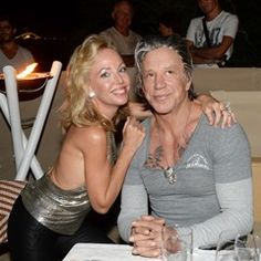 EXCLUSIVE Mickey Rourke and celebrities at Marcel Campion's party (306647)