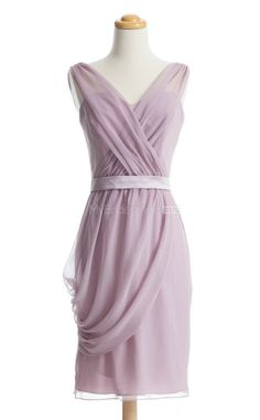 Affordable Lilac Short Bridesmaid Dress,Short Bridesmaid Dresses--does it come in plum?