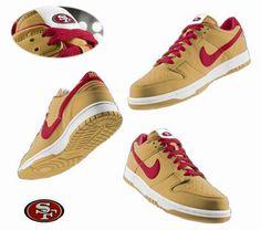 big sale dd076 212b1 Sf Niners, Forty Niners, Discount Nike Shoes, Nike Shoes For Sale, Nike  Dunks, San Francisco 49ers, Football Fans, Shoe Brands, Nike Men