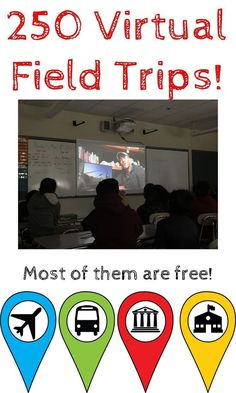Growing database of 250 virtual field trips. most are FREE! Virtual field trip and writing a narrative about it? 5th Grade Social Studies, Teaching Social Studies, Teaching Tools, Teacher Resources, Teaching History, Social Studies Classroom, History Education, Teaching Ideas, World History Classroom