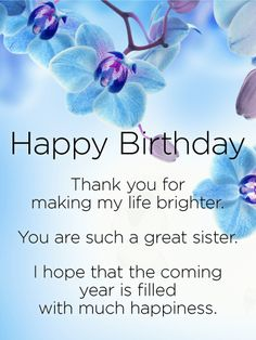 Good childhood memories happy birthday wishes card for sister the thank you for making my life brighter happy birthday wishes card for sister m4hsunfo