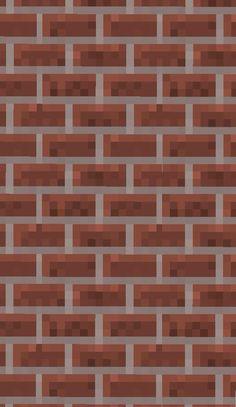 Minecraft Bricks Wallpaper Minecraft Brick, Mojang Minecraft, Minecraft Pictures, Creeper Minecraft, Minecraft Art, Minecraft Skins, Lock Screen Wallpaper Iphone, Brick Wallpaper, Aesthetic Iphone Wallpaper