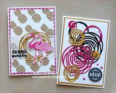 Hier scrapt und stempelt das papiertier: Pop of Paradise, Wunderbar verwickelt - Pink ist das neue Flamingo oder so ähnlich ;-)