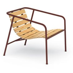 Jasper Morrison's leisurely curled and wooden-slatted Low chair, http://www.dwell.com/products/