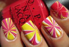 Captivating Claws- Water Marble inspired by tulips and daffodils