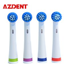 4ピース/パックazdent電動歯ブラシヘッドスーツ用トップ販売歯ブラシAZ-OC2歯ブラシヘッド口腔衛生
