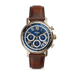 Fossil Men's FS5148 Buchanan Chronograph Dial Brown Watch