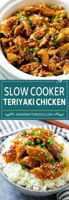 Slow Cooker Teriyaki Chicken Recipe | Crock Pot Teriyaki Chicken | Slow Cooker Chicken | Asian Chicken #slowcooker #crockpot #teriyaki #chicken #dinner #dinneratthezoo