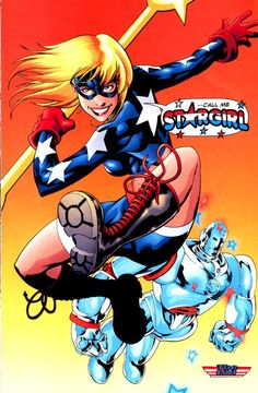 Estátua Stargirl Bombshell em Estilo Pin Up Anos 40 Comic Book Characters, Comic Character, Comic Books Art, Comic Art, Book Art, Arte Dc Comics, A Comics, Hq Marvel, Captain Marvel