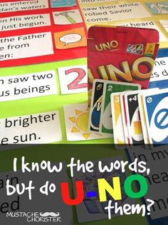 I love this LDS Primary Singing Time game idea from Mustache Chorister!