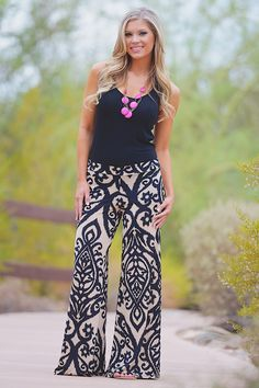 Like A Love Song Palazzo Pants - Black from Closet Candy Boutique