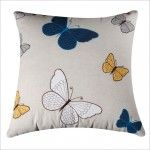 Rizzy Home - Natural and Blue Decorative Accent Pillows (Set of 2) - T03523