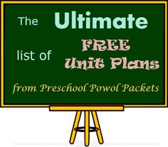 Ultimate List of FREE Unit Plans for Young Children!  #preschool #curriculum #unitstudy