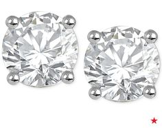 Cyber Monday Special: $299 Diamond Stud Earrings in 14k White or Yellow Gold (3/4 ct. tw.)