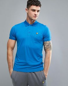 f25988ee7 Lyle & Scott Fitness Pascoe Polo Shirt with Mesh Panels in Blue - Blue Lyle  Scott
