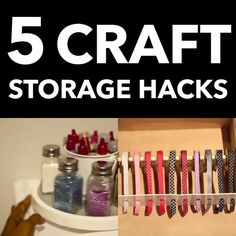 5 Craft Room Storage Hacks