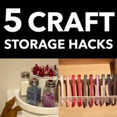 5 Craft Room Storage Hacks