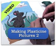 Making Plasticine Pictures 2 Clay Projects, Clay Crafts, Crafts For Kids, Cube Template, Plasticine, Art Camp, Polymers, Texture Art, Teaching Art
