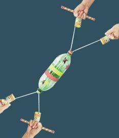 Criando Crianças: Manobra de Férias - Brinquedo de sucata: Vai-vem de Garrafa Pet