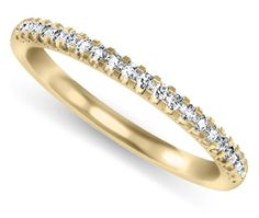 0.25 Carat Scallop #Diamond #Wedding Ring in Yellow Gold  Price: $625.00 from http://brilliance.com