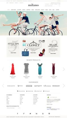 best responsive Magento themes for your eCommere website. Free and premium Magento templates for your online store. Web Design, Layout Design, Graphic Design, Closet Collection, Banner Design, New Product, Ecommerce, Templates, Blog