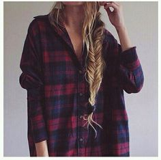 Red and blue plaid♡