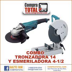 #CompraTotal - #HerramientaManualCostaRica COMBO TRONZADORA 14 Y ESMERILADORA 4-1/2