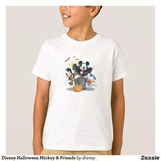 Disney Halloween Mickey & Friends. Producto disponible en tienda Zazzle. Vestuario, moda. Product available in Zazzle store. Fashion wardrobe. Regalos, Gifts. #camiseta #tshirt