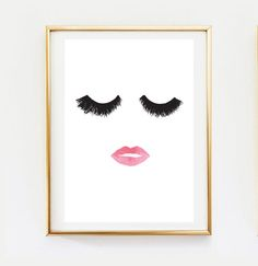 Maquillage Print, decoration murale, Déco maison, sticker, affiche minimaliste, mode impression, Glamour, impression de beauté, maquillage Poster, Wall Art Print.