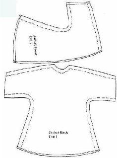 patrones de ropa de barbie | Aprender manualidades es facilisimo.com