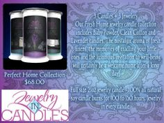 Our Fresh Home jewelry candle collection includes Baby Powder, Clean Cotton and Lavender candles. The nostalgic aroma of fresh linens, the memories of cradling your little ones and the luxurious invitation to well-being will certainly be a welcome home after a long day https://www.jewelryincandles.com/store/brandyschrock/p/64:c:89/signature-collections/perfect-home-collection/