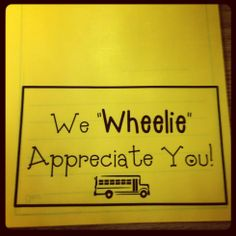 Students fold into cards for bus drivers on Bus Driver Appreciation day!