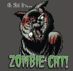 Cartoon Zombies   Cartoon: Zombie Cat (medium) by esplesst tagged zombie,cat,funny,gory ...