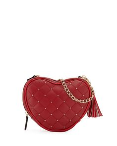 Annie Studded Heart Crossbody Bag